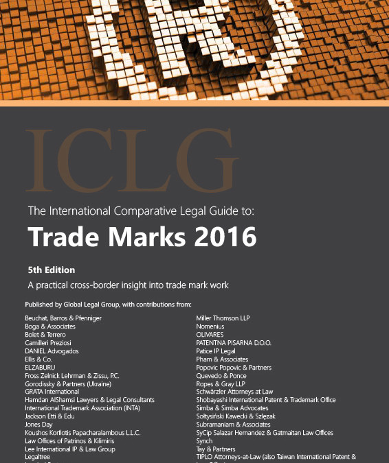 Trade Marks 2016 – New article in ICLG