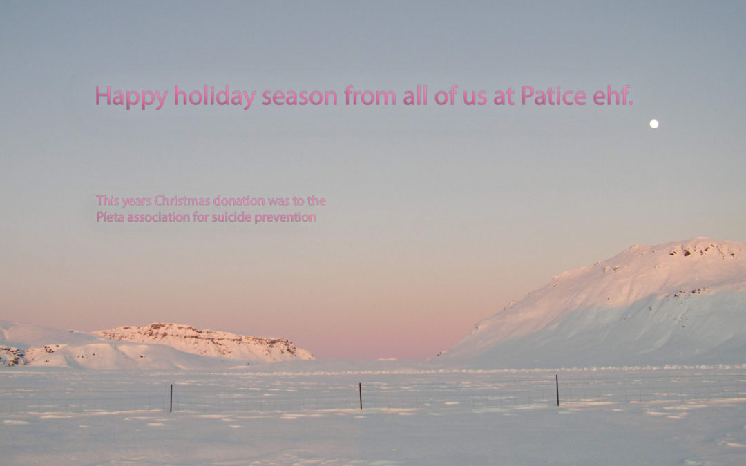 Happy holiday season from all of us at Patice ehf.
